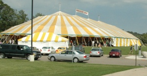 Celebrating under the big tent!