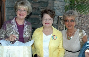 Gloria with dear friends, Wanda and Gloria