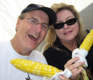 And roasted corn..open wide Larry!